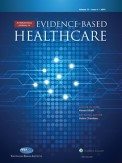 International Journal for Evidence-based Healthcare icon