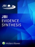 JBI Evidence Synthesis cover