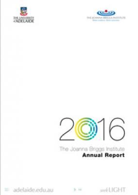 2016 JBI Annual Report cover